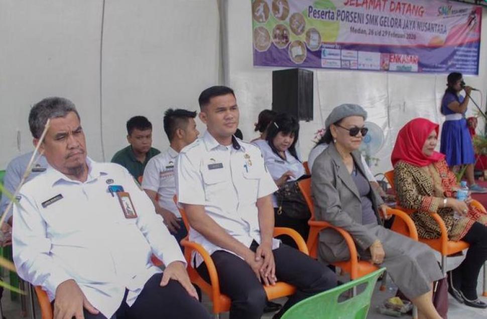 Pembukaan Pekan Olahraga dan Seni (Porseni) di SMK Gelora Jaya Nusantara Medan