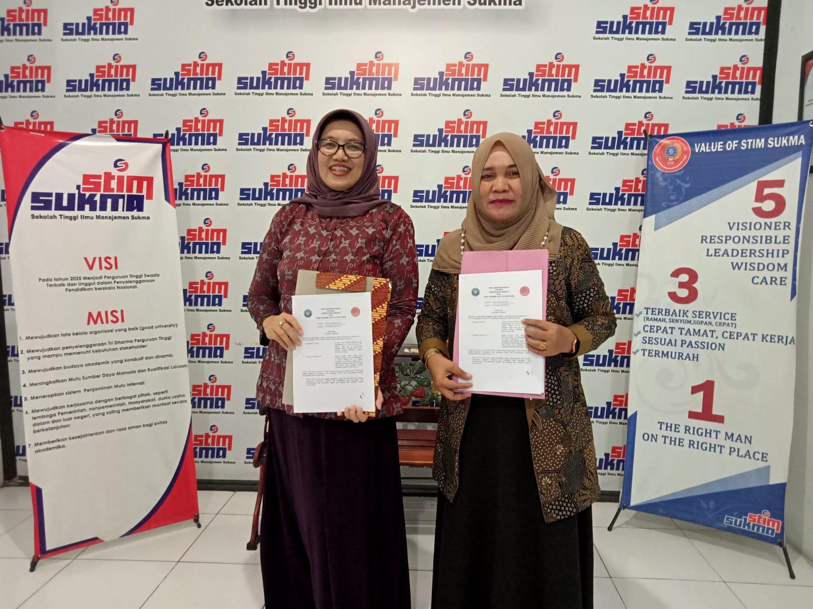 MOU antara SMK Gelora Jaya Nusantara Medan dengan STIM Sukma Medan
