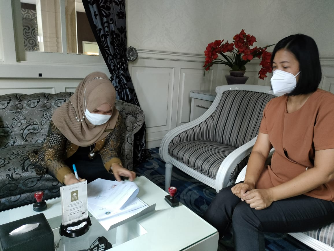 SMK Gelora Jaya Nusantara Medan Menjalin MOU dengan  Grand City Hall Hotel