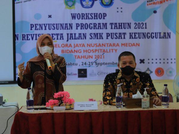 Penutupan Kegiatan Workshop Program  Tahun 2021 Dan Revisi Peta Jalan Oleh Bapak Kepala Dinas Pendidikan Provinsi Sumatera Utara