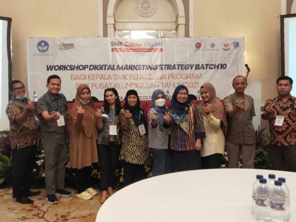 Workshop Digital Marketing Strategy Batch 10 Bagi Kepala Sekolah Pelaksana Program SMK Pusat keunggulan